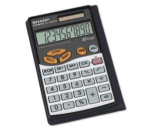 Sharp Electronics EL-480SRB EL480SRB Handheld Business Calculator, 10-Digit LCD by SHARP ELECTRONICS