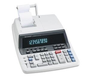 Sharp Electronics EL501WBBK QS-1760H Two-Color Ribbon Printing Calculator, Black/Red Print, 4 Lines/Sec by SHARP ELECTRONICS