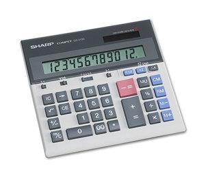 Sharp Electronics QS2130 QS-2130 Compact Desktop Calculator, 12-Digit LCD by SHARP ELECTRONICS