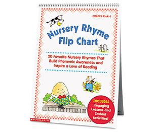 Scholastic 00078073513826 Nursery Rhyme Flip Chart, Grades PreK-1, 20 Pages by SCHOLASTIC INC.