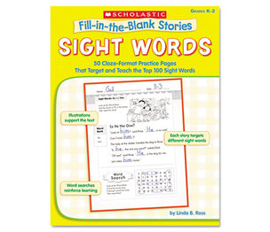 Scholastic 00078073554317 Fill-in-the-Blank Stories, Sight Words, Grades K-2, 64 Pages by SCHOLASTIC INC.