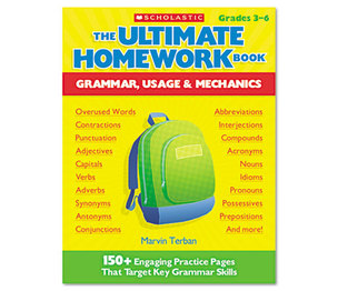 Scholastic 00078073931422 The Ultimate Homework Book: Grammar, Usage and Mechanics, Grades 3-6, 176 Pages by SCHOLASTIC INC.