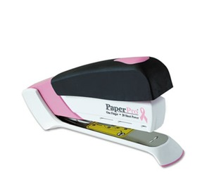 Accentra, Inc. 1188 Pink Ribbon Desktop Stapler, 20-Sheet Capacity, Pink/White by ACCENTRA, INC.