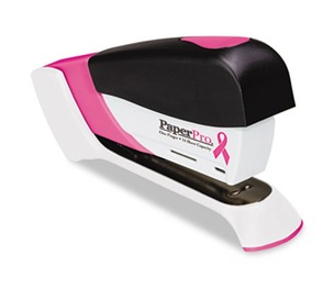 Accentra, Inc. 1588 Pink Ribbon Compact Stapler, 15-Sheet Capacity, Pink/White by ACCENTRA, INC.
