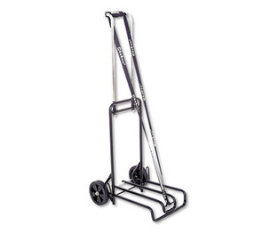 Luggage Cart, 250lb Capacity, 12 1/4 x 13 Surface, Black/Chrome by BOND STREET LTD.