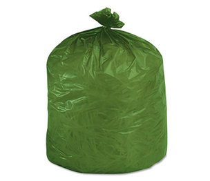 STOUT industrial and commercial grade Products G3340E11 Eco-Degradable Plastic Trash Garbage Bag, 33gal, 1.1mil, 33 x 40, Green, 40/Box by STOUT