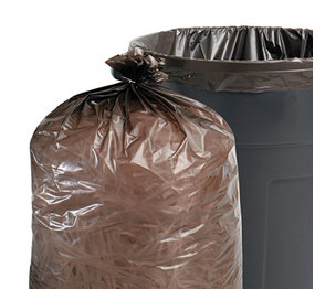 STOUT industrial and commercial grade Products T3658B15 100% Recycled Plastic Garbage Bags, 60gal, 1.5mil, 36 x 58, Brown/Black, 100/CT by STOUT