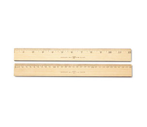 "ACME UNITED CORPORATION 10375 Wood Ruler, Metric and 1/16"" Scale with Single Metal Edge, 30 cm by ACME UNITED CORPORATION"