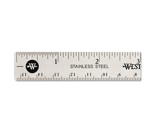 "ACME UNITED CORPORATION 10414 Stainless Steel Office Ruler With Non Slip Cork Base, 6"" by ACME UNITED CORPORATION"