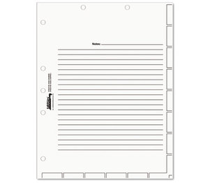 TABBIES 54520 Medical Chart Index Divider Sheets, 8-1/2 x 11, White, 400/Box by TABBIES