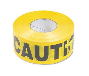Tatco Products, Inc 10700 Caution Barricade Safety Tape, Yellow, 3w x 1000ft Roll by TATCO