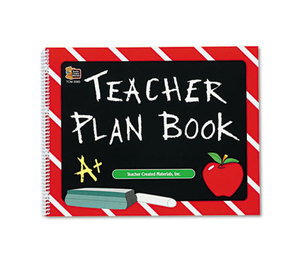 TEACHER CREATED RESOURCES 2093 Plan Book, Spiral-Bound, 9-1/2 x 12, 96 Pages by TEACHER CREATED RESOURCES