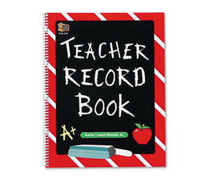 TEACHER CREATED RESOURCES 2119 Record Book, Spiral-Bound, 11 x 8-1/2, 64 Pages by TEACHER CREATED RESOURCES