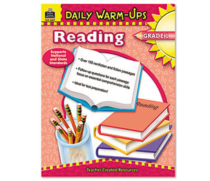 TEACHER CREATED RESOURCES TCR3487 Daily Warm-Ups: Reading, Grade 1, Paperback, 176 Pages by TEACHER CREATED RESOURCES
