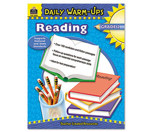 TEACHER CREATED RESOURCES TCR3488 Daily Warm-Ups: Reading, Grade 2, Paperback, 176 Pages by TEACHER CREATED RESOURCES
