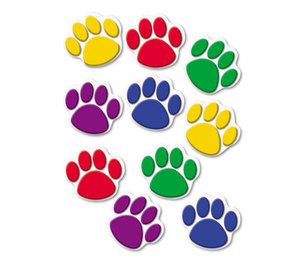 TEACHER CREATED RESOURCES TCR4114 Paw Print Accents, Assorted Colors by TEACHER CREATED RESOURCES