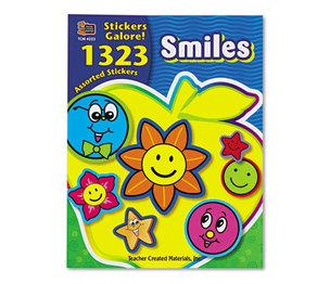 TEACHER CREATED RESOURCES 4223 Sticker Book, Smiles, 1,323/Pack by TEACHER CREATED RESOURCES