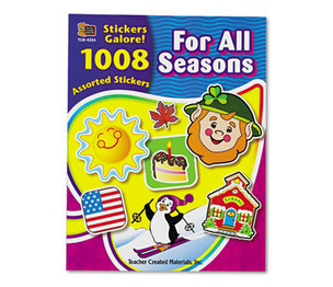 TEACHER CREATED RESOURCES 4224 Sticker Book, For All Seasons, 1,008/Pack by TEACHER CREATED RESOURCES