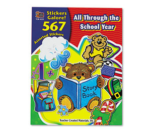 TEACHER CREATED RESOURCES 4229 Sticker Book, All Through the School Year, 567/Pack by TEACHER CREATED RESOURCES