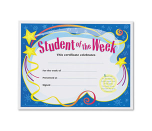 TREND ENTERPRISES, INC. T2960 Student of the Week Certificates, 8-1/2 x 11, White Border, 30/Pack by TREND ENTERPRISES, INC.