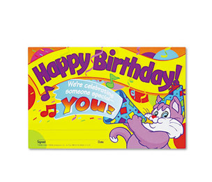 TREND ENTERPRISES, INC. T8100 Recognition Awards, Happy Birthday!, 8-1/2w x 5-1/2h, 30/Pack by TREND ENTERPRISES, INC.