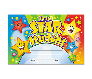TREND ENTERPRISES, INC. T81019 Recognition Awards, I'm a Star Student, 8 1/2w by 5 1/2h, 30/Pack by TREND ENTERPRISES, INC.
