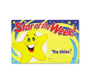 TREND ENTERPRISES, INC. T8107 Recognition Awards, Star of the Week!, 8-1/2w x 5-1/2h, 30/Pack by TREND ENTERPRISES, INC.