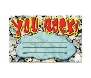 TREND ENTERPRISES, INC. T81401 Recognition Awards, You Rock, 8 1/2w by 5 1/2h, 30/Pack by TREND ENTERPRISES, INC.