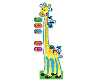 TREND ENTERPRISES, INC. T8176 Giraffe Growth Chart Bulletin Board Set, 6 ft by TREND ENTERPRISES, INC.