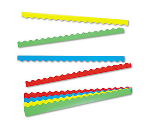TREND ENTERPRISES, INC. T9001 Terrific Trimmers Border Variety Pack, 2 1/4 x 39, Assorted Colors, 48/Set by TREND ENTERPRISES, INC.