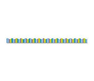 """TREND ENTERPRISES, INC. T9889 Terrific Trimmers Bright Border, 2 1/4"""" x 39"""" Panels, Cool Stripes, 12/Set by TREND ENTERPRISES, INC."""