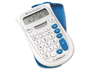 TEXAS INSTRUMENTS INC. TI-1706SV TI-1706SV Handheld Pocket Calculator, 8-Digit LCD by TEXAS INSTRUMENTS