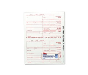 Tops Products 22993 IRS Approved 1099 Tax Form, 8 x 5-1/2, Five-Part Carbonless, 50 Forms by TOPS BUSINESS FORMS