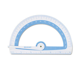 ACME UNITED CORPORATION 14376 Soft Touch School Protractor With Microban Protection, Assorted Colors by ACME UNITED CORPORATION