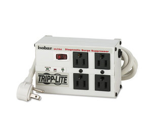 Tripp Lite ISOBAR4ULTRA ISOBAR4ULTRA Isobar Surge Suppressor, 4 Outlets, 6 ft Cord, 3330 Joules by TRIPPLITE