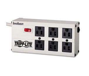 Tripp Lite ISOBAR6 ISOBAR6 Isobar Surge Suppressor, 6 Outlets, 6 ft Cord, 3330 Joules, Light Gray by TRIPPLITE