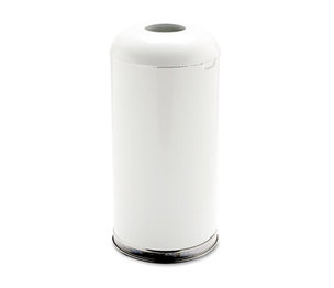 RUBBERMAID COMMERCIAL PROD. FGR32EGLWH Fire-Resistant Open Top Receptacle, Round, Steel, 15gal, White by RUBBERMAID COMMERCIAL PROD.