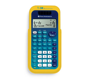 TI-34 MultiView Scientific Calculators EZ Spot Yellow Teacher Kit Pack of 10