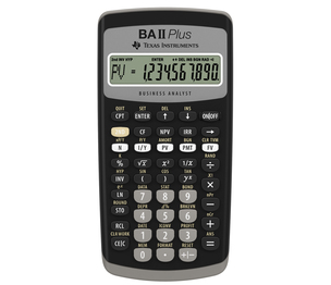 TEXAS INSTRUMENTS INC. IIBAPL/CLM/1L1 TI BA II Plus Best Selling Financial Calculator