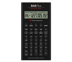 TEXAS INSTRUMENTS INC. IIBAPRO/CLM/1L1 TI BA II Plus Professional Financial Calculator