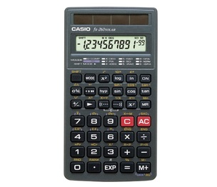 Casio Computer Co., Ltd FX-260SLR-SCH FX-260 Solar Scientific Calculator (No fraction key)