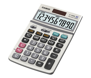 Casio Computer Co., Ltd JF-100MS JF-100MS 10 Digit Desktop Calculator with Extra Large Display