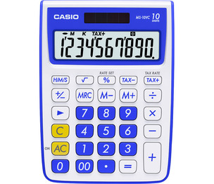 Casio Computer Co., Ltd MS-10VC-BE MS-10VC 10 Digit Desktop Calculator with Extra Large Display (Blue)