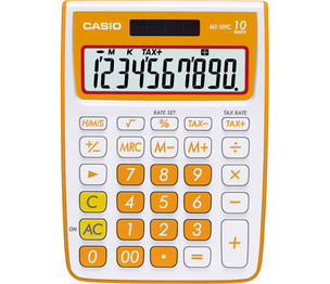 Casio Computer Co., Ltd MS-10VC-OE MS-10VC 10 Digit Desktop Calculator with Extra Large Display (Orange)