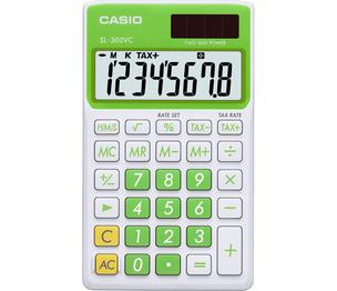 Casio Computer Co., Ltd SL-300VC-GN SL-300VC Basic Handheld Calculator (Green)