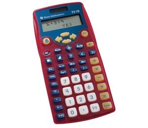 TEXAS INSTRUMENTS INC. 10/BK TI-10 Instructional 2-Line Calculator