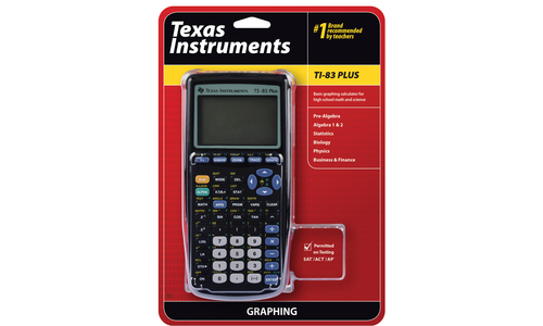 TEXAS INSTRUMENTS INC  83PL/TBL/1L1 TI-83 Plus Graphing Calculator for High  School Math and Science