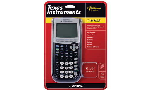 TEXAS INSTRUMENTS INC  84PL/TBL/1L1 TI-84 Plus Graphing Calculator (with  preloaded apps for high school math and science)
