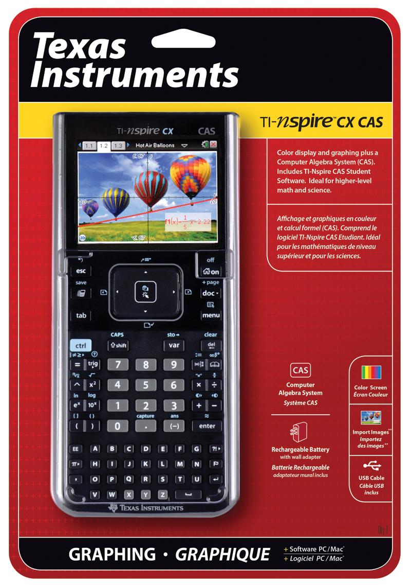ti nspire cx cas color graphing calculator one 1 unit. Black Bedroom Furniture Sets. Home Design Ideas