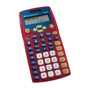 TI-10 Instructional 2-Line Calculator